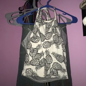 Reversible PacSun Me to We cropped halter top